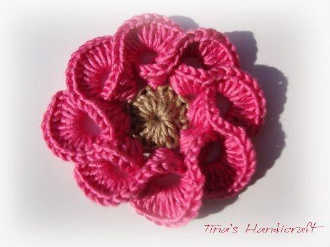 Crochet Flower Tutorial Very Easy Youtube Crochet Flowers