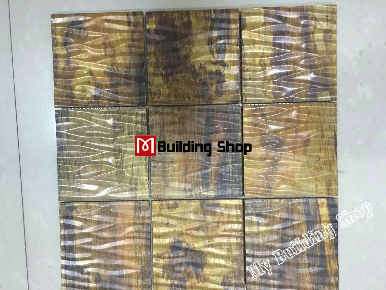 3d metal mosaic wall tile backsplash smmt071 copper metallic 3d metal mosaic wall tile backsplash smmt071 copper metallic stainless steel tiles 3d mosaic tiles bathroom dailygadgetfo Choice Image