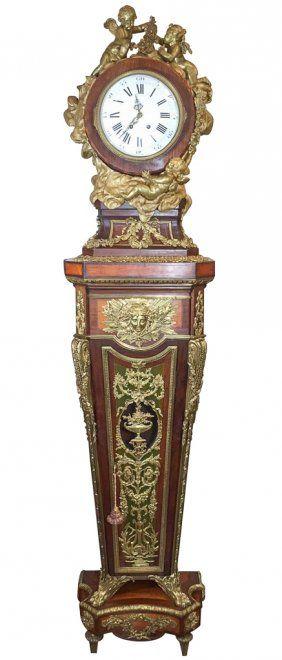 Lot:Rare  French Kingwood Long Case Clock, Lot Number:225, Starting Bid:$100, Auctioneer:J. Garrett Auctioneers, Auction:Rare  French Kingwood Long Case Clock, Date:06:00 AM PT - Nov 19th, 2016