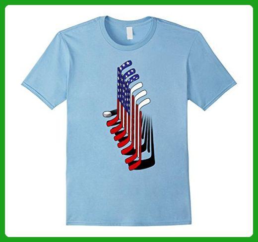 Mens Ice Hockey, American Hockey Flag Sport Player Gift T-Shirt 2XL Baby Blue - Sports shirts (*Amazon Partner-Link)