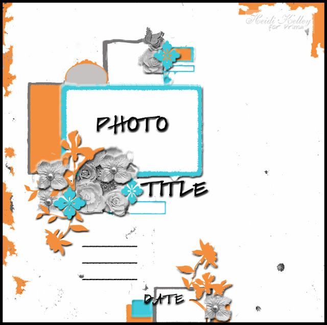 Heidi Kelley single photo LO sketch. #scrapbooking #scrapbook #layout #sketches #templates