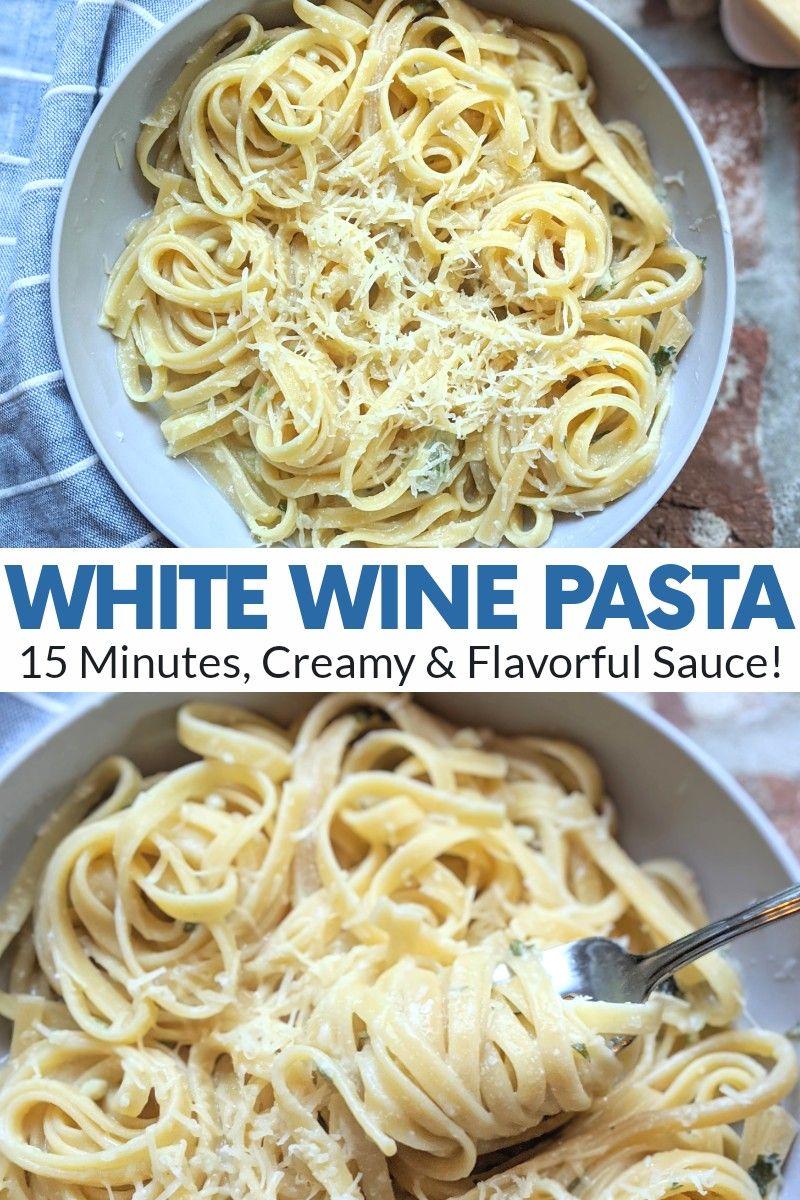 White Wine Pasta Sauce With Garlic Herbs Vegan Gf Options Recipe In 2021 White Wine Pasta Sauce Wine Pasta Sauce White Wine Sauce Recipes