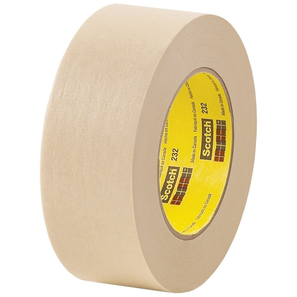3m 232 Masking Tape 3 Core 2 X 180 Tan Case Of 12 Masking Tape Tape Painters Tape