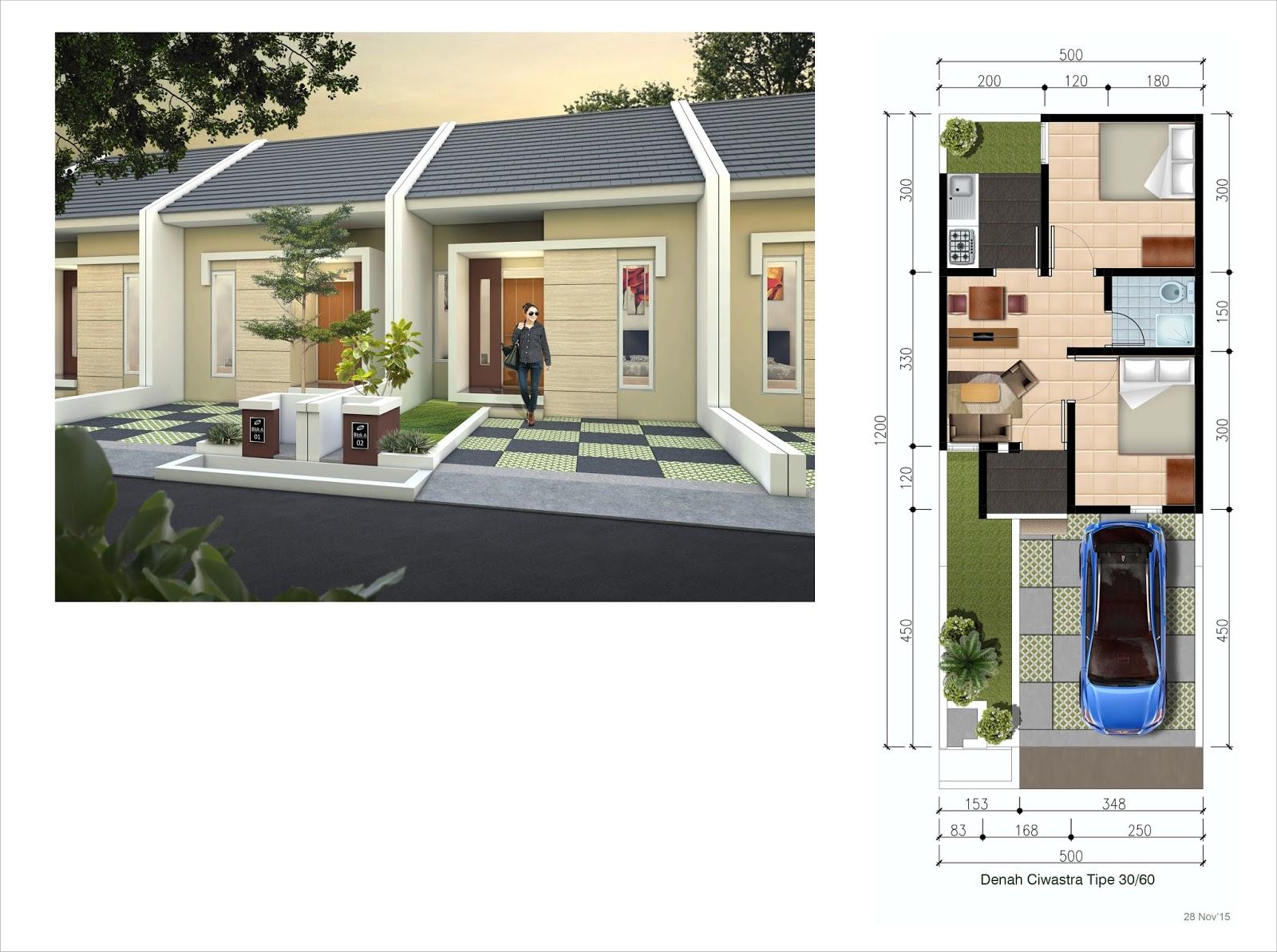 Gambar Desain Rumah Type 30 60 Rumah Desain Rumah Denah Rumah