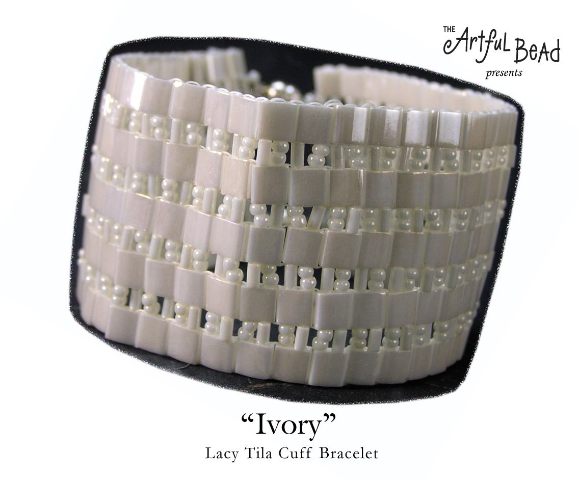 Lacey tila bracelet beading kit by the artful bead beading