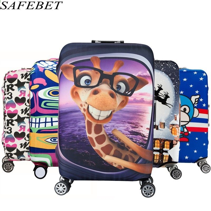 9a729a094 SAFEBET Marca Trolley Maleta Proteger Bolsa de Polvo Caso Niño Viaje de Dibujos  Animados Cove Cubierta