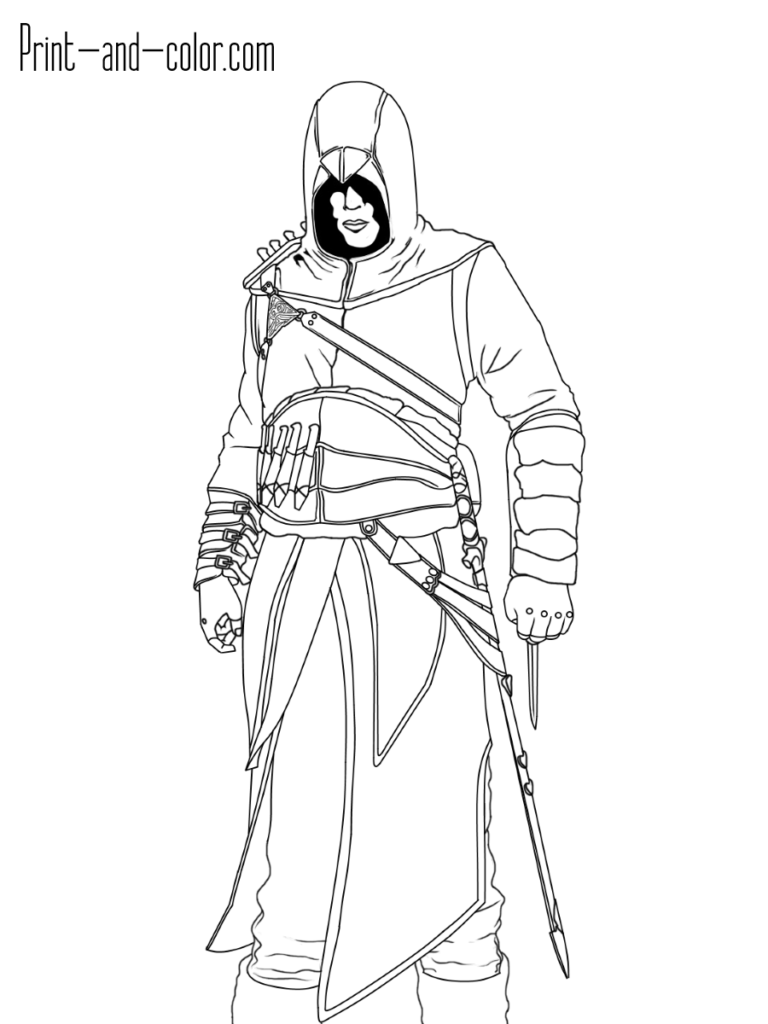 Altair Ibn La Ahad Assassin S Creed Coloring Pages Assassins Creed Flag Coloring Pages