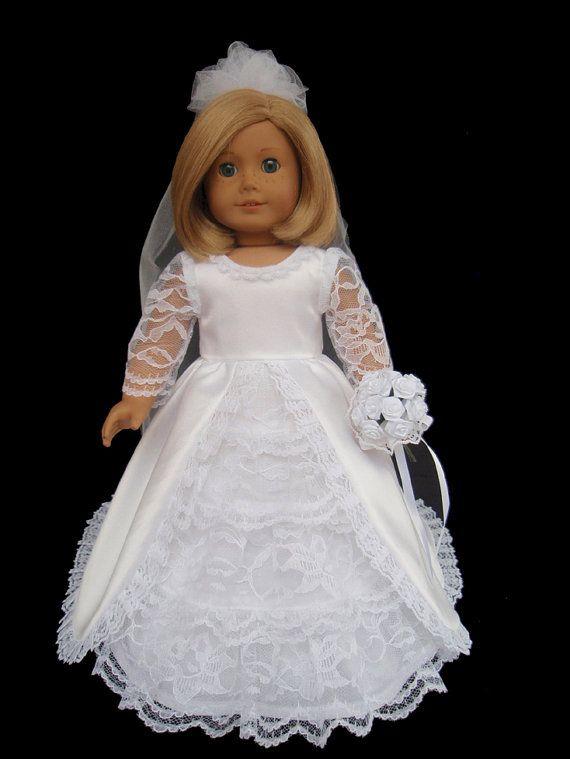 American Girl Doll Clothes Wedding Dress Tiered by SewSoNancy   2017 ...