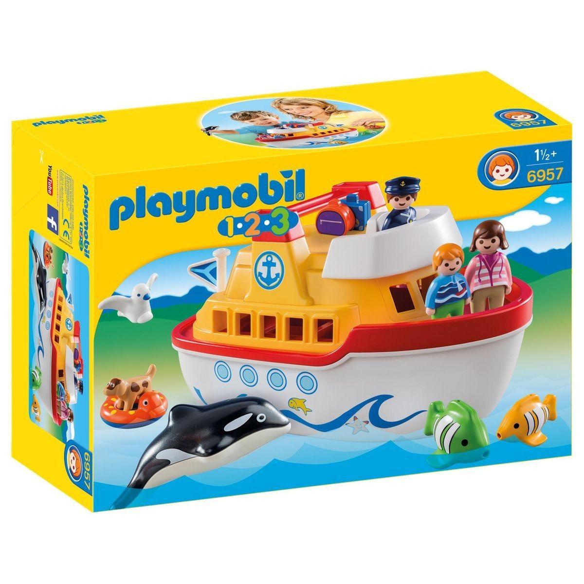 Playmobil 9118 1.2.3 Flottant Bateau pirate avec tir canon à eau