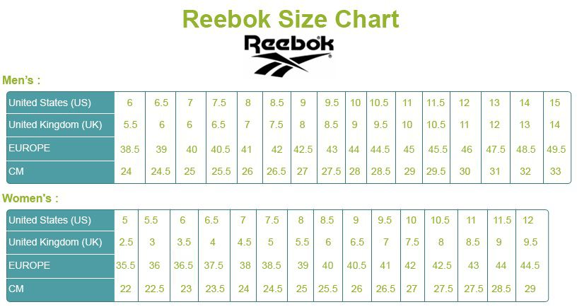 Reebok Field Magistrate li are in different sizes and different