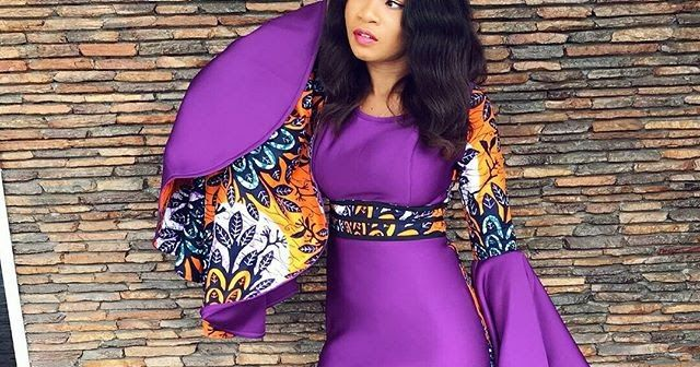 Super Stylish Ankara And Plain Material Gown Styles For Cute Ladies