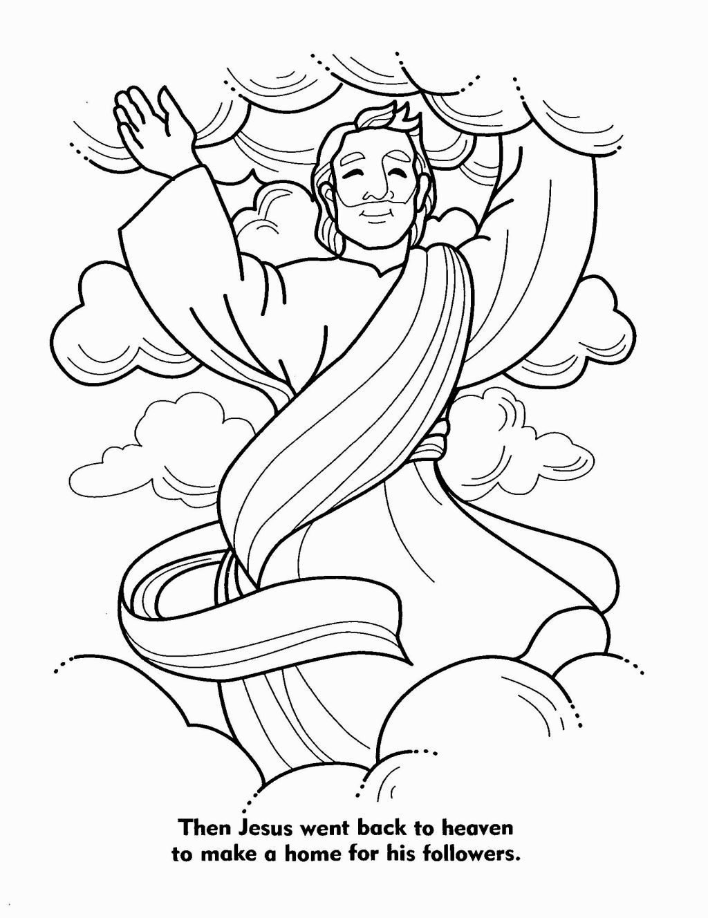 Coloring Page Jesus Bible Coloring