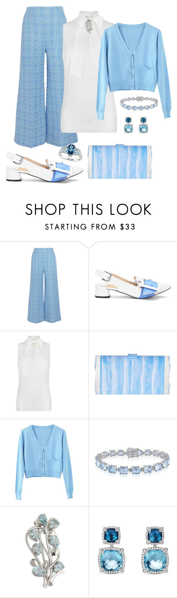 """""""Sky"""" by sommer-reign ❤ liked on Polyvore featuring Emilia Wickstead, MICHAEL Michael Kors, Edie Parker, WithChic, Belk & Co., NOVICA, David Yurman and Allurez"""