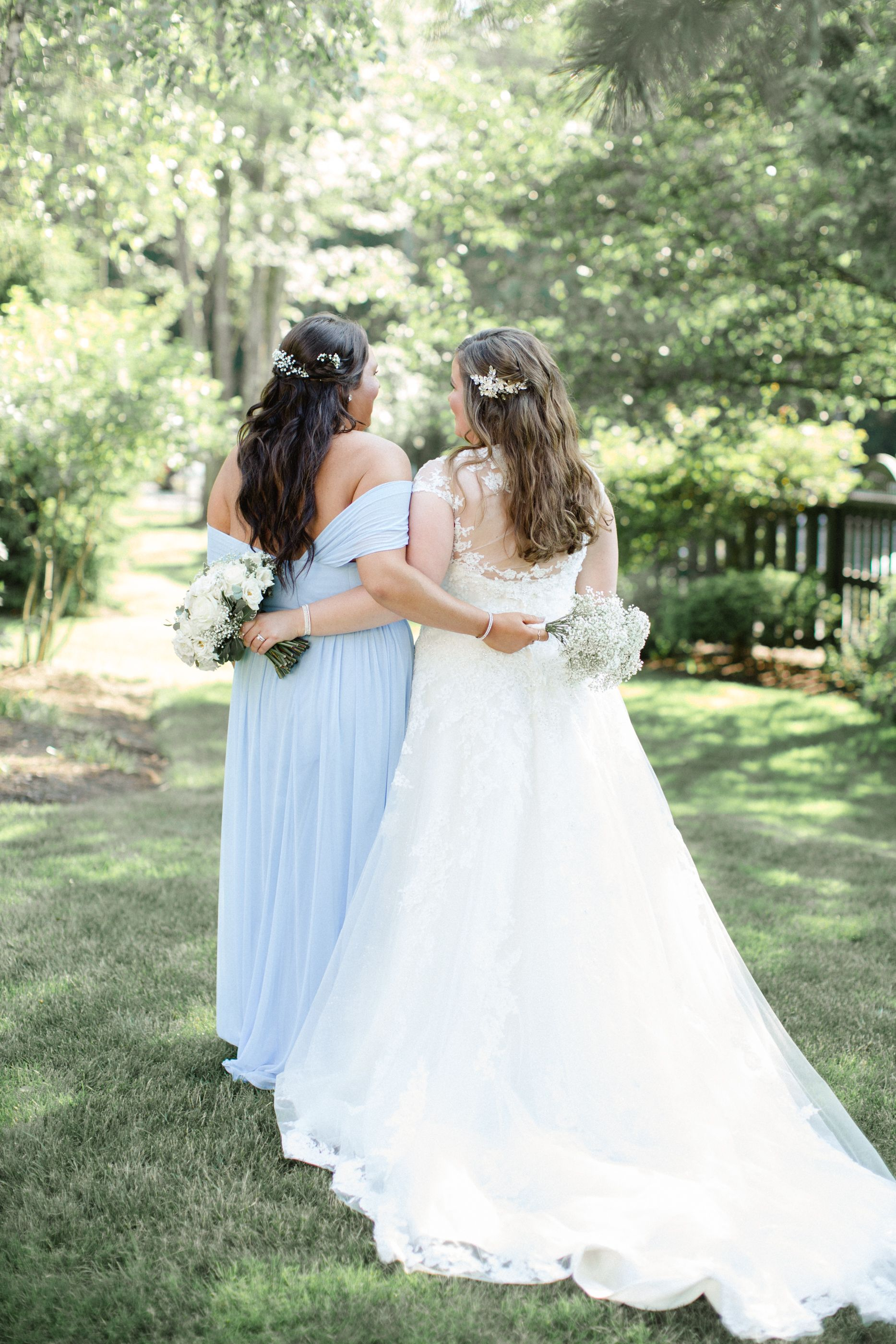 Bride + MOH l Jordan DeNike Photography l Scranton Wedding Photographer    Wedding dress backs, Wedding dresses lace, Bride