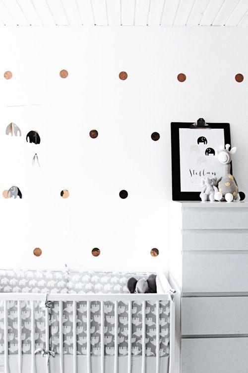 Kupfer Konfetti eine entzückende kinderzimmer dekoration mit meinem kupfer konfetti