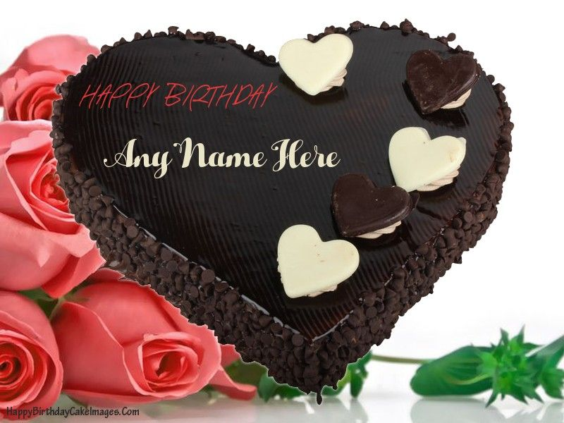 Chocolate Cake Pic With Name : Happy birthday chocolate cake with name editor Hd ...