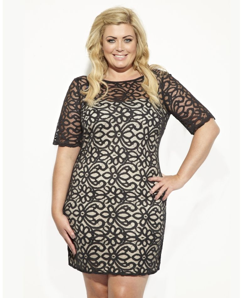 I Love The Lace Used On This Dress. Gemma Collins Lisbon