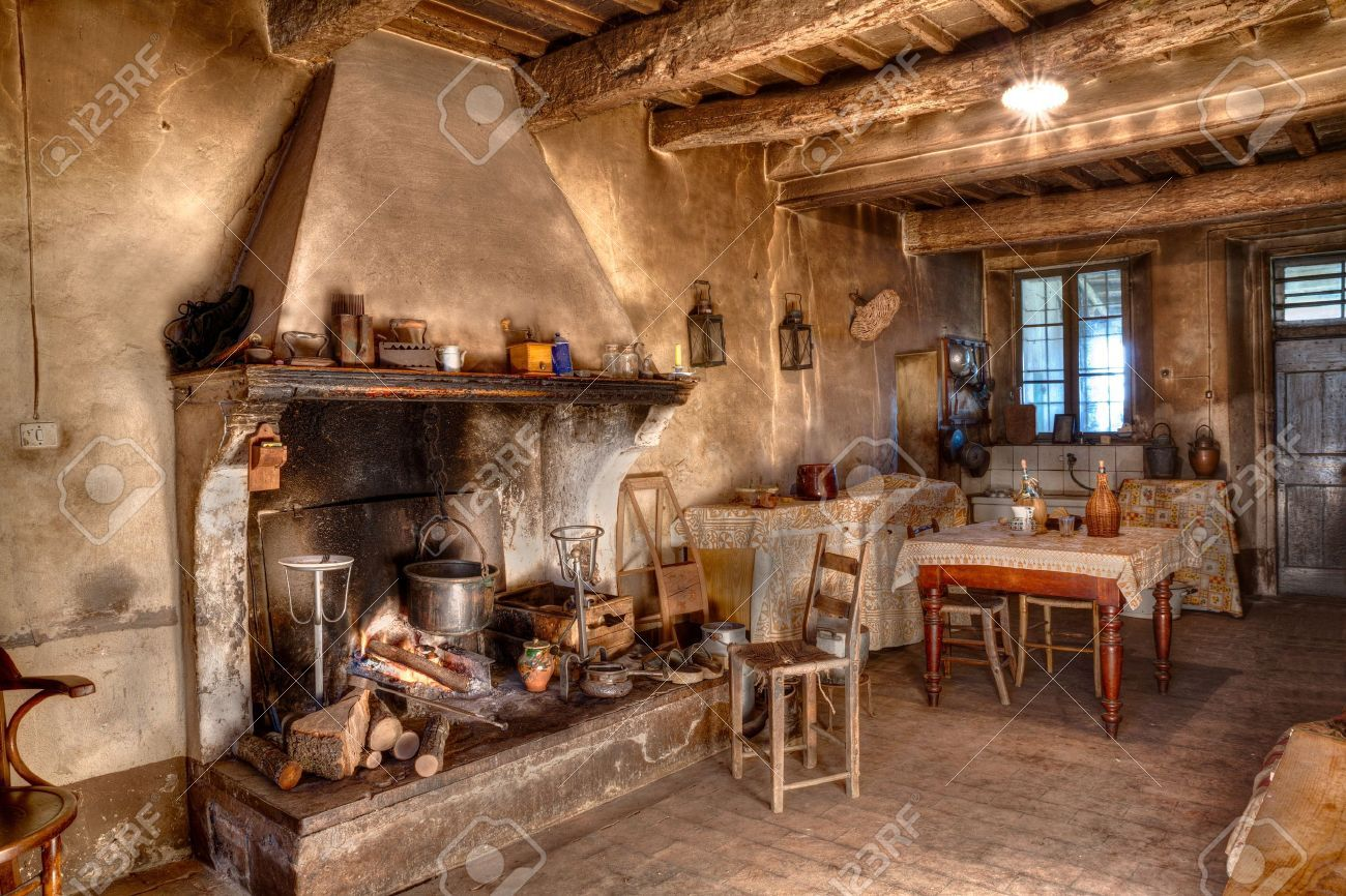 Old Times Farmhouse Interior Of An Old Country House With