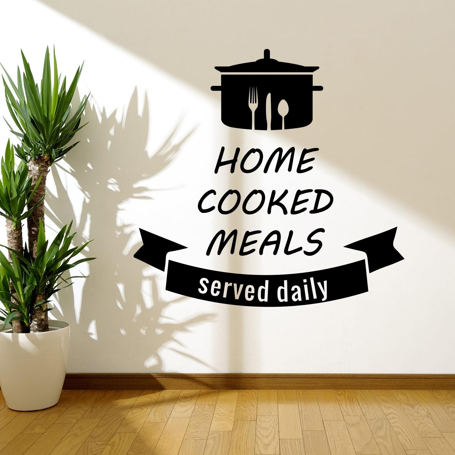 Home Cooked Meals Wall Sticker Adesivo da Muro | Kitchen stickers ...