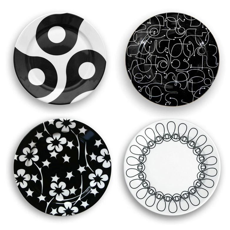 notNeutral - In The Mix Small Plate Set Of 4 #2Modern  sc 1 st  Pinterest & notNeutral - In The Mix Small Plate Set Of 4 #2Modern | Modern Color ...