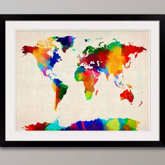Rainbow world map rainbow pinterest rainbows watercolor and rainbow world map gumiabroncs Choice Image