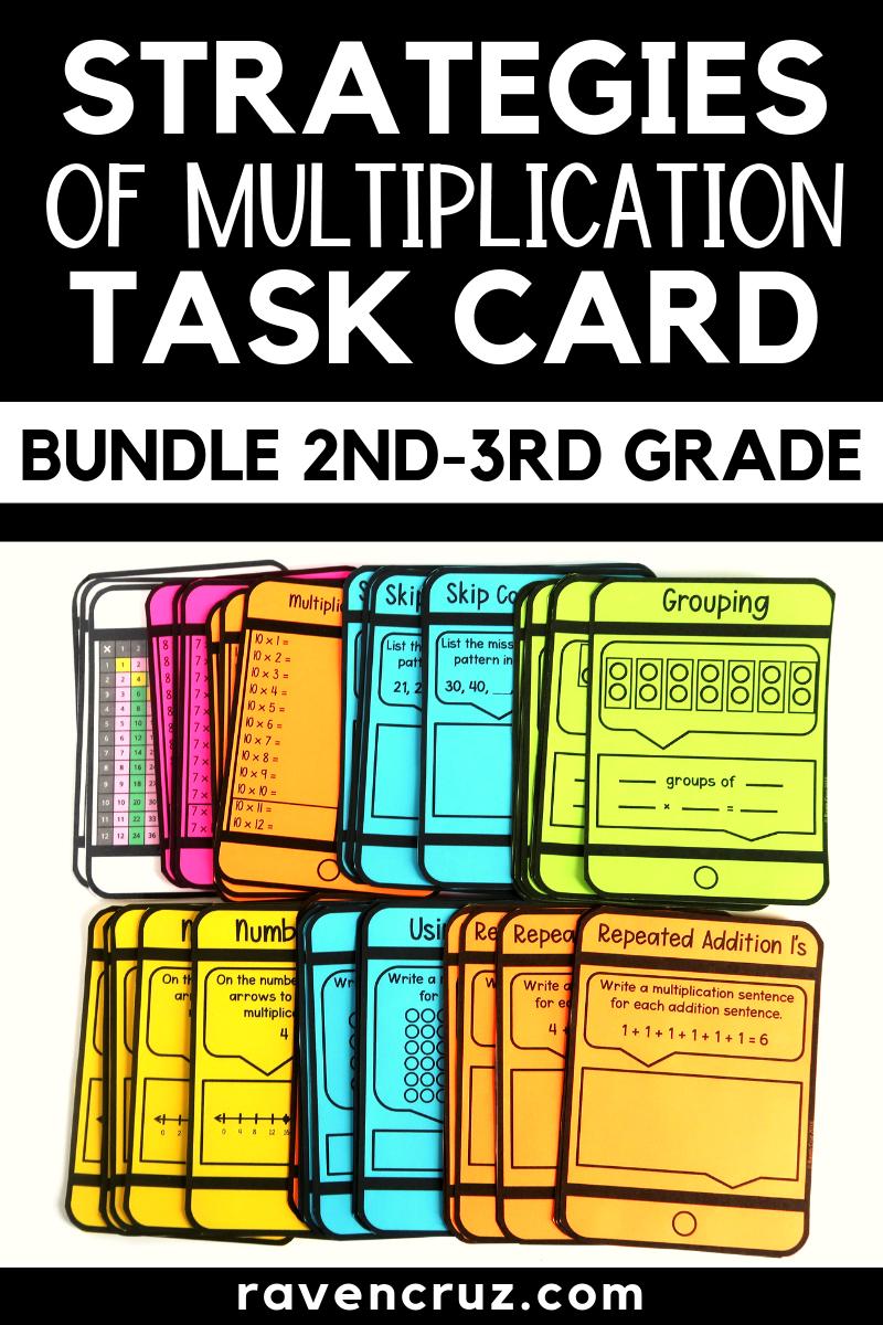 Strategies Of Multiplication Task Card Bundle Task Cards Multiplication Task Cards Multiplication [ 1200 x 800 Pixel ]