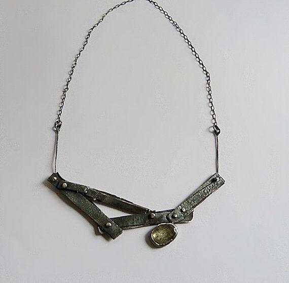 SALE   Rutilated Quartz and  sterling silver by jolantakrajewska