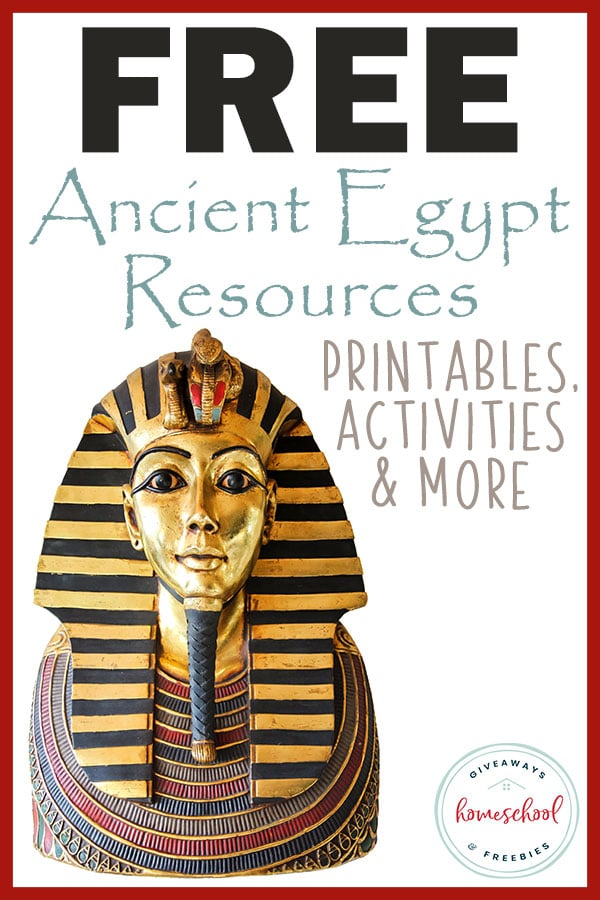 FREE Ancient Egypt Resources: Printables, Activities & More - Homeschool Giveaways