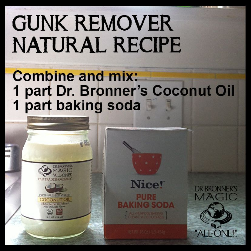 Gunk Remover Baking soda cleaning, Baking with coconut