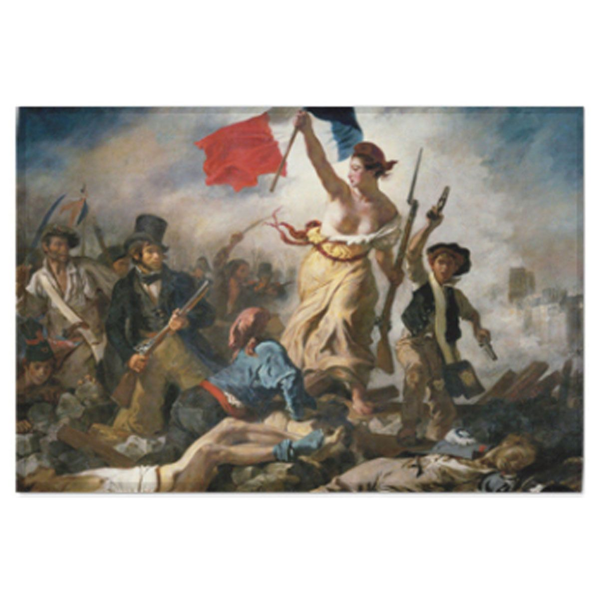 Fabric Prints Poster Liberty Leading The People Delacroix Painting