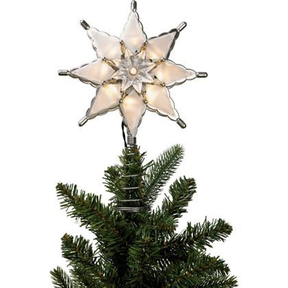 Silver Star Light Up Tree Topper At Homebase Be Inspired And Make You Indoor Christmas Lights Christmas Tree Toppers Lighted Star Christmas Lights
