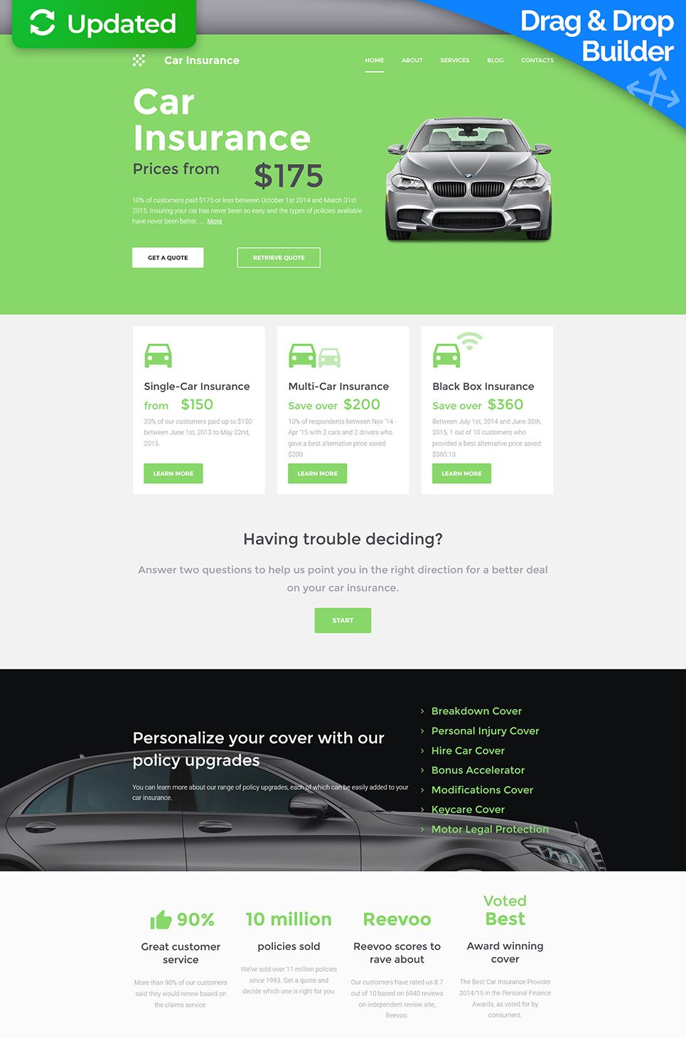 Car Insurance Responsive Moto Cms 3 Template 59414 With Images