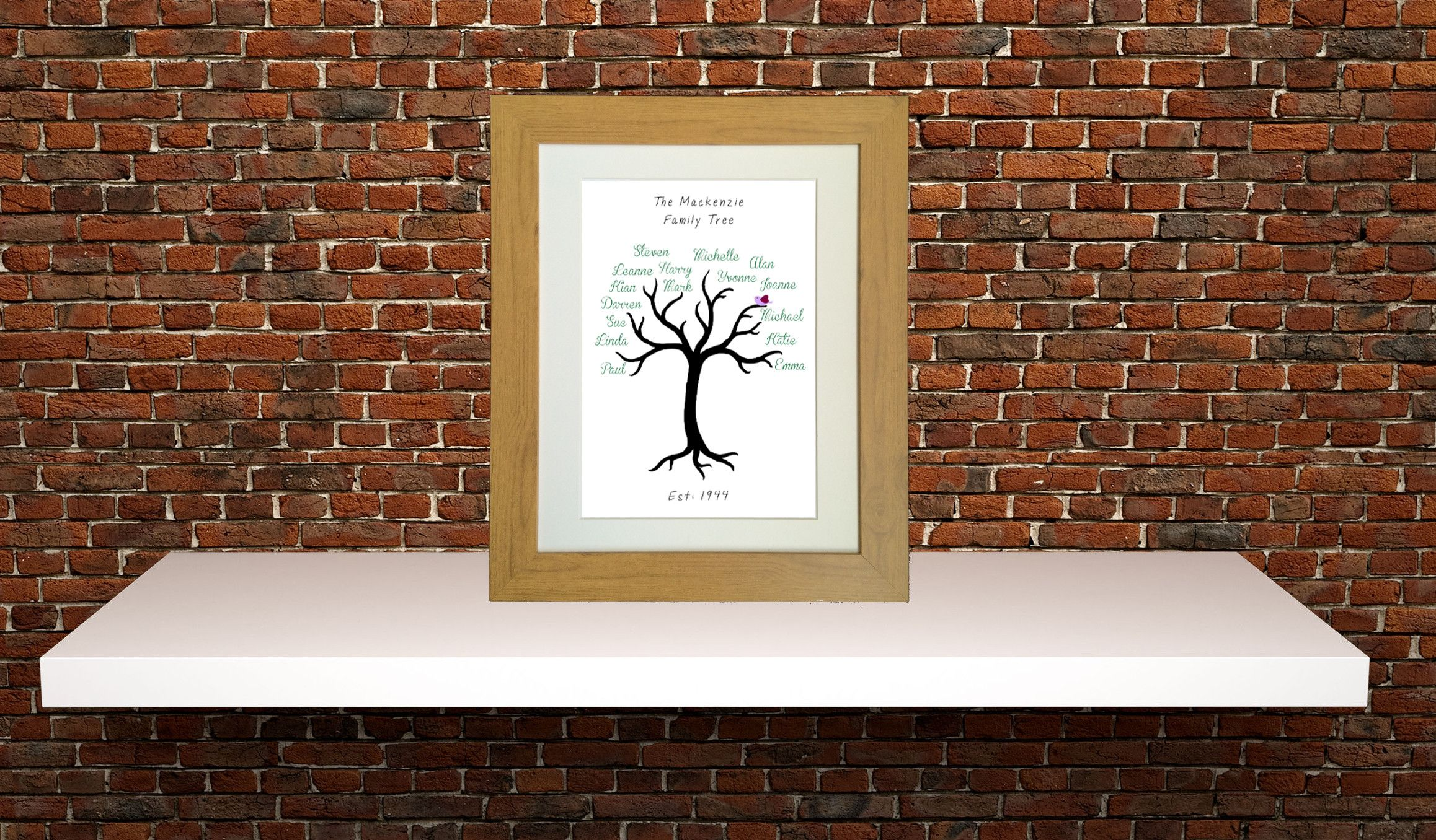Family tree print wall art ideas pinterest family tree print