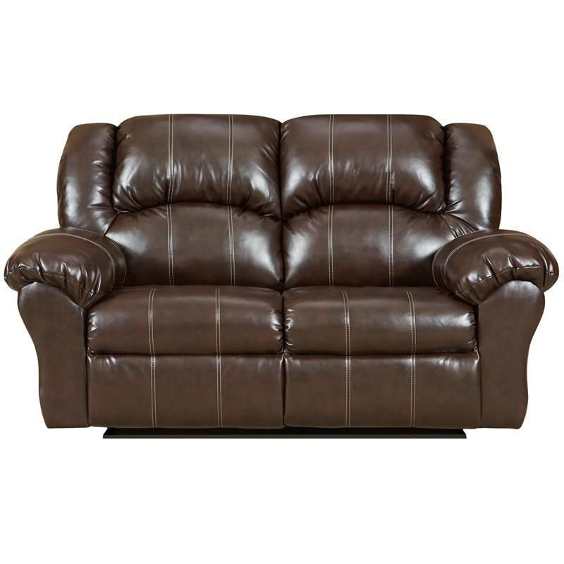Flash Furniture 1002BRANDONBROWN GG Exceptional Designs Brandon Brown Leather  Reclining Loveseat