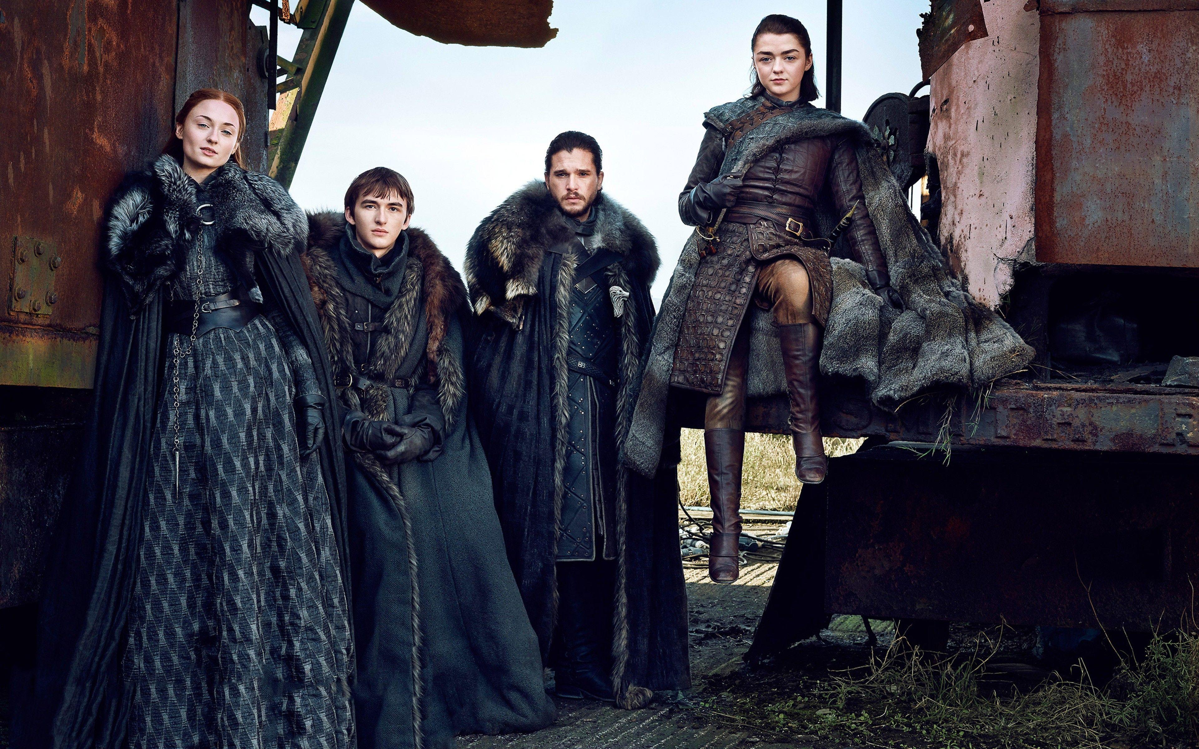 Game Of Thrones Season 7 Jon Snow Arya Stark Brandon Stark