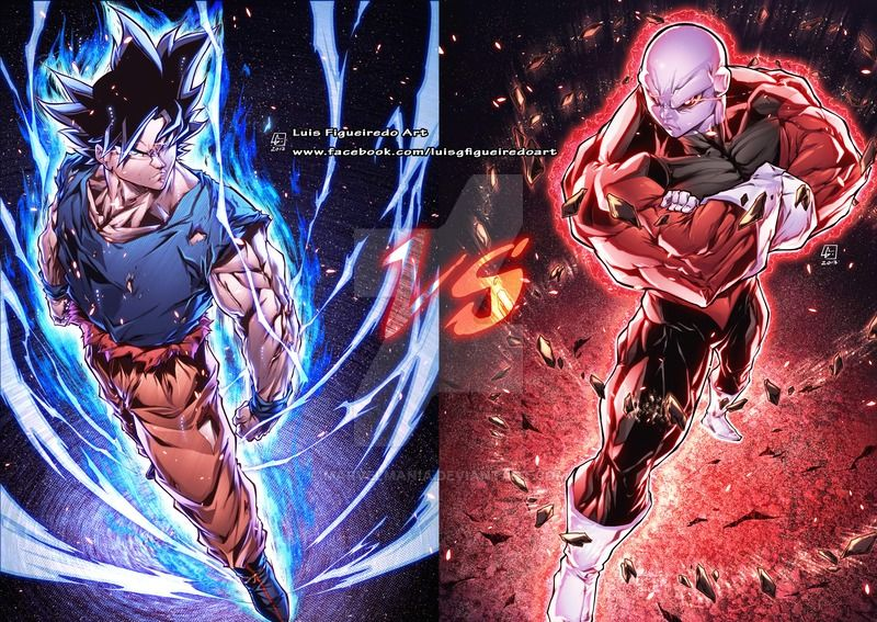 Goku Vs Jiren From Dragon Ball Super By Marvelmania Goku Vs Jiren Anime Dragon Ball Super Dragon Ball Goku