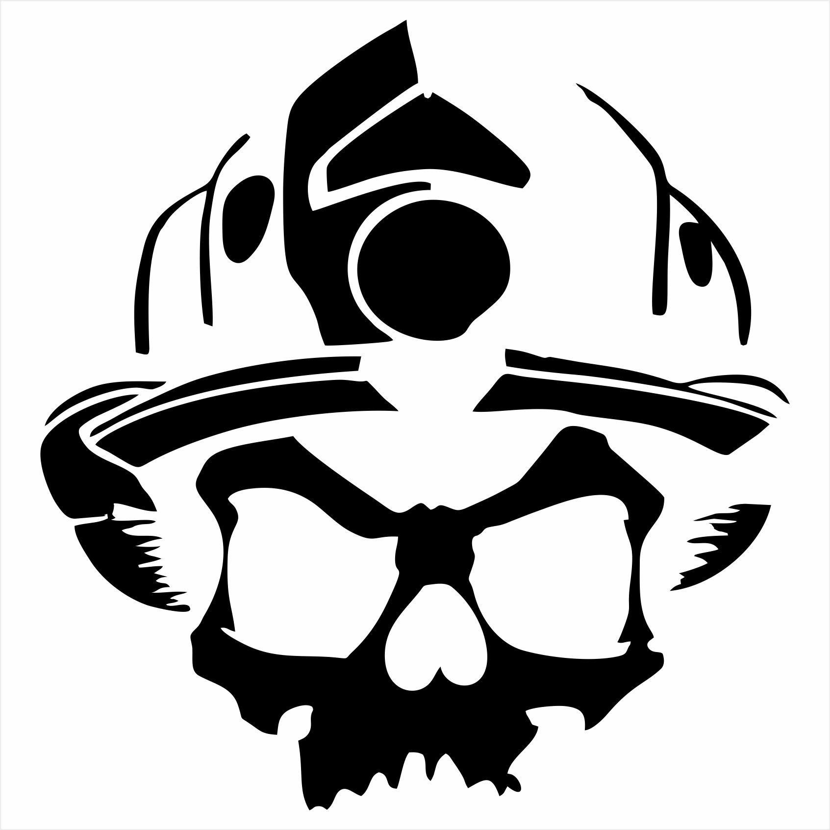 American Flag Skull Logo Helmet Decal Fight Fire T