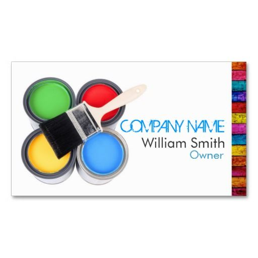 Painter business card tarjetas personales painter business cards painter business card colourmoves Image collections