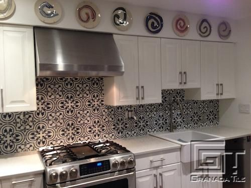 A Brooklyn Kitchen Gets a Smashing Cement Tile Back Splash Courtesy ...