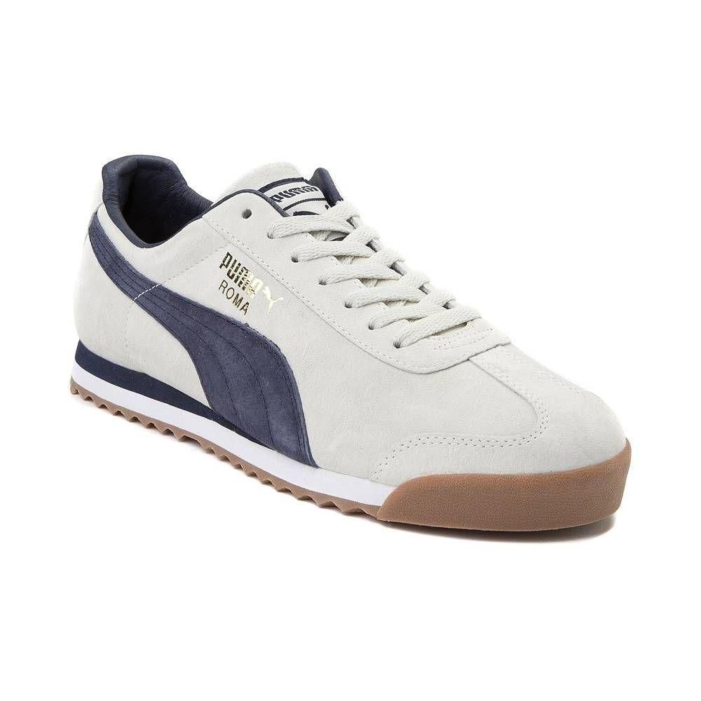 Mens Puma Roma Gents Athletic Shoe WhiteNavyGum 361795