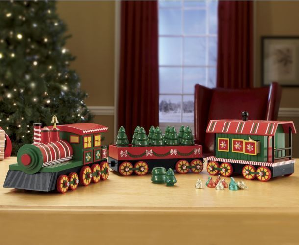 Christmas Wooden Advent Train Large 33 New Christmas Unique