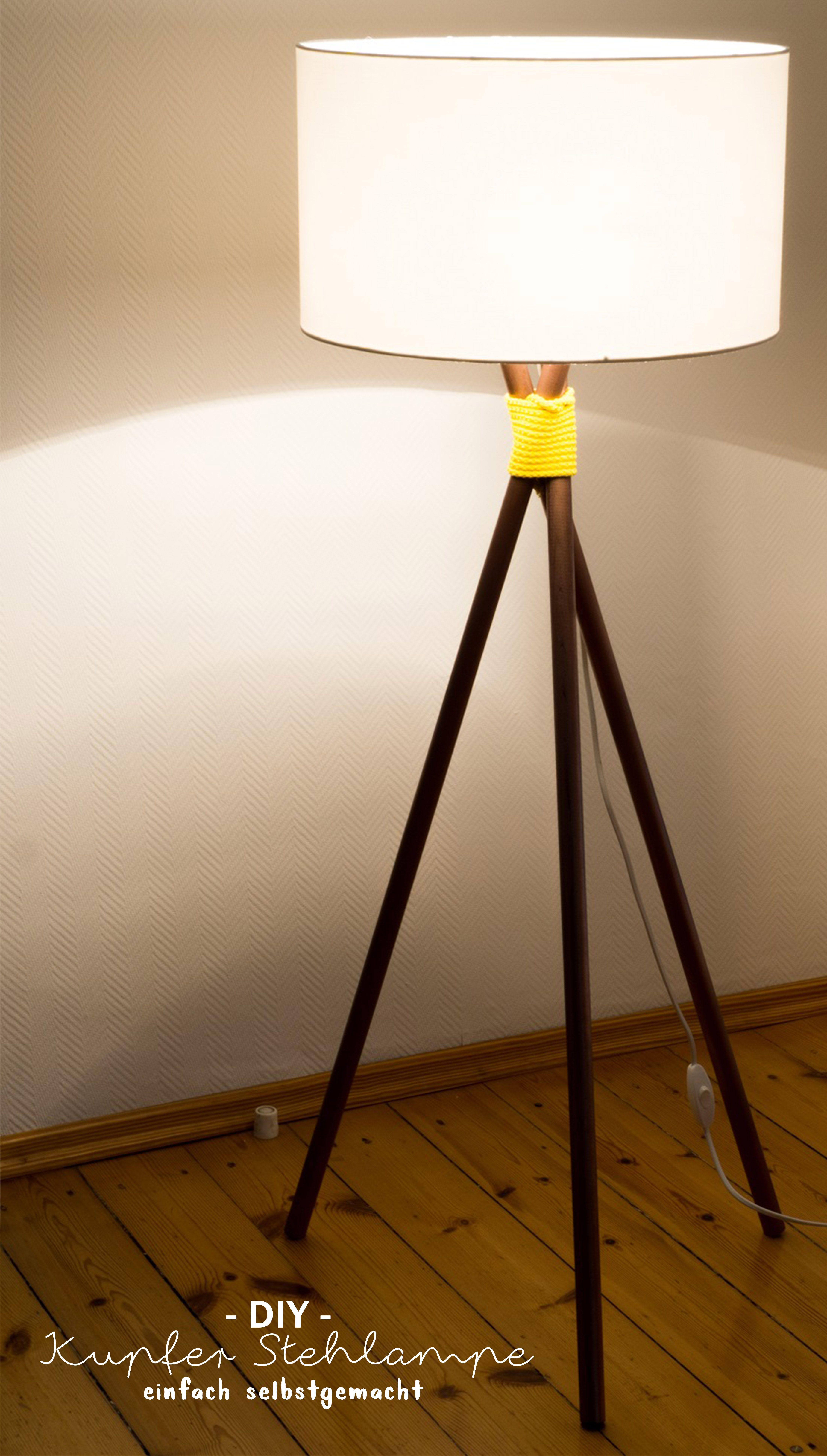 Kupfer Stehlampe Selber Bauen So Geht S Vernetzteuch Diy