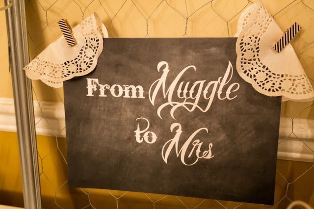 from muggle to mrs a harry potter bridal shower by berry