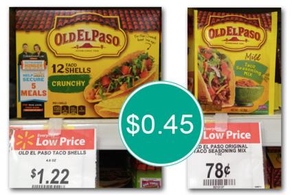 Old El Paso Taco Seasoning Only 0 45 At Walmart With Images El Paso Taco Old El Paso Taco Seasoning
