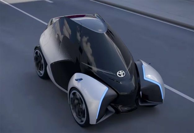 7393d2172c 'The i-Tril concept car is possibly the most futuristic Toyota yet but we  suspect that if it was brought to market in South Africa, there would be an  issue ...