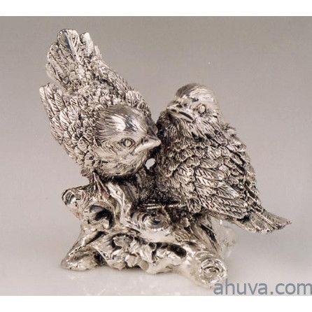 Silver Birds Figurine