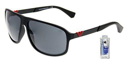 be44c6b83ee Emporio Armani EA4029 Essential Leasure Square Sunglasses Bundle-2 Items
