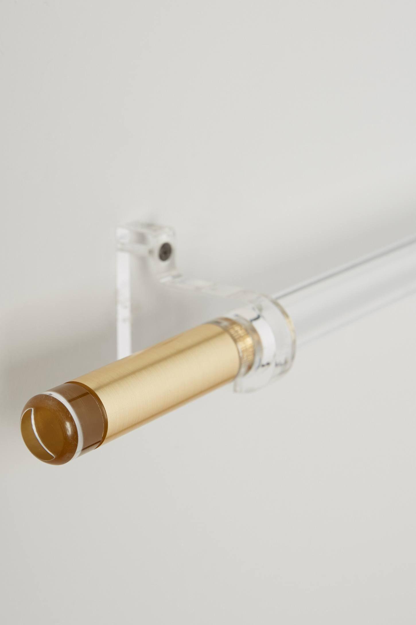 Acrylic curtain rod - Hardware Shop The Brass Acrylic Curtain Rod