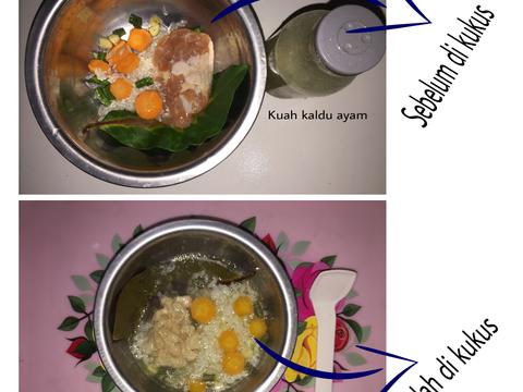 Resep Mpasi 6m Menu 4 Bintang Bubur Ayam Komplit Oleh Putri Khaerani Resep Resep Makanan Bayi Resep Makanan Bayi