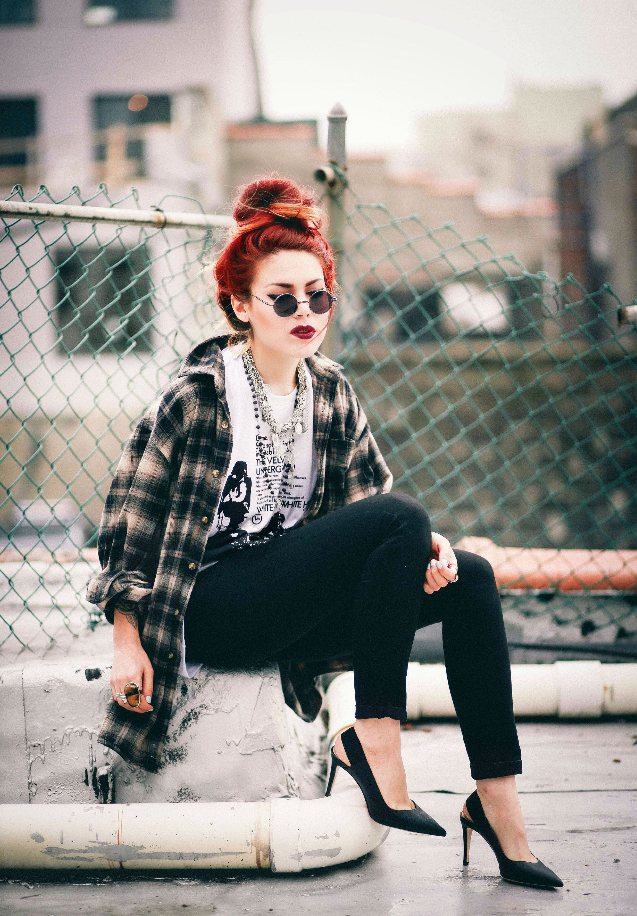 Grunge flannel outfits  Pin by naomienchanted on Luanna Perez  Pinterest  Urban outfitters